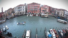 Canale großes Fisheye stock video footage
