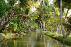 Canale indiano del fiume Fotografie Stock Libere da Diritti