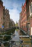 Canale navigabile Amsterdam fotografia stock libera da diritti