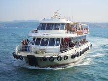 Canale navigabile dell'incrocio di traghetto Fotografia Stock Libera da Diritti