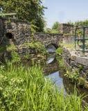 Canale navigabile inutilizzato del canale al parco nazionale delle sbavature fotografia stock