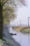 Canale navigabile olandese Fotografia Stock