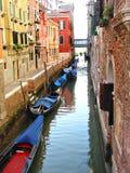 Canale navigabile a Venezia Immagini Stock Libere da Diritti