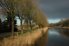 Canale in Olanda Fotografia Stock