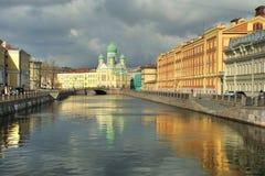 Canale Pietroburgo di Griboedov fotografie stock