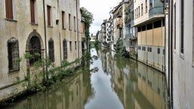 Canale Piovego, Padova, Włochy Obraz Royalty Free