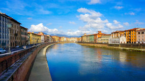 Canale a Pisa Immagini Stock