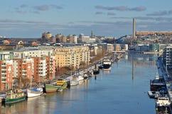 Canale Stoccolma di Hammarby Fotografia Stock Libera da Diritti