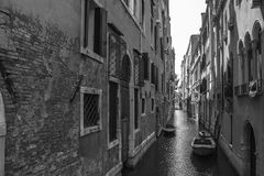 Canale stretto Di Venezia Fotografia Stock
