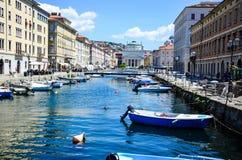 Canale Triest grande, Italia fotografia stock libera da diritti