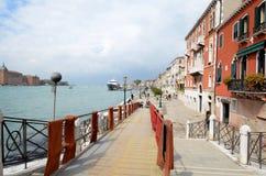 Canale Tronchetto - Lido di Venezia Immagine Stock Libera da Diritti