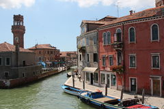 Canale a Venezia Immagini Stock Libere da Diritti