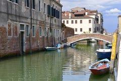 Canale a Venezia in Italia Immagine Stock Libera da Diritti