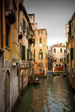 Canale veneziano. fotografia stock