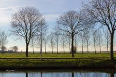 Canales de Amstelveen, tiempo del otoño fotografía de archivo libre de regalías