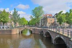 Canales de Amsterdam Imagen de archivo libre de regalías