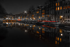 Canales de Amsterdam Imagenes de archivo