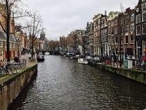 Canales de Amsterdam Royalty Free Stock Photos