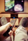 Canales de televisión de la transferencia Imagenes de archivo