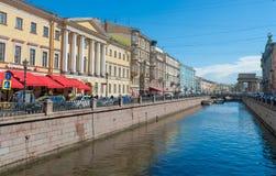 Canales del agua de St Petersburg Fotos de archivo