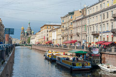 Canales del agua de St Petersburg Foto de archivo libre de regalías