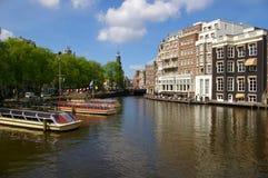 Canales en Amsterdam Foto de archivo libre de regalías