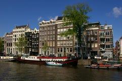 Canales en Amsterdam Foto de archivo