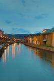 Canales históricos de Otaru en Otaru, Hokkaido, Japón imagen de archivo libre de regalías