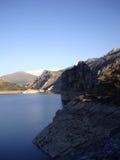 Canales rezerwuar, GÃ ¼ ejar sierra, sierra Nevada, Hiszpania zdjęcie stock