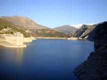 Canales rezerwuar, GÃ ¼ ejar sierra, sierra Nevada, Hiszpania fotografia stock