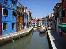 Canaleta de Burano Fotos de Stock Royalty Free