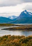 Canaleta do lebreiro, Patagonia, Argentina fotografia de stock