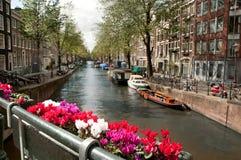 Canaleta em Ansterdam fotografia de stock royalty free