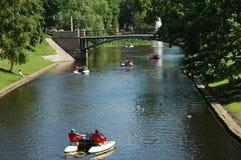 Canaleta em Riga Imagem de Stock Royalty Free
