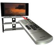 Canaleta que muda a HDTV Foto de Stock