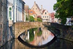Canaletas de Bruges foto de stock royalty free