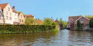 Canaletas maravilhosas de Bruges fotos de stock