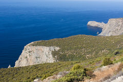 撒丁岛 Canalgrande峭壁 库存照片
