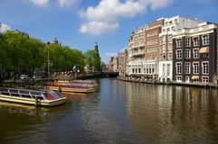 Canali a Amsterdam Fotografia Stock Libera da Diritti