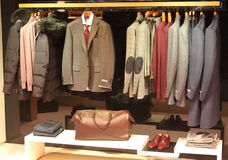 Canali clothing for men. Store in Bucharest,Romania Stock Photo