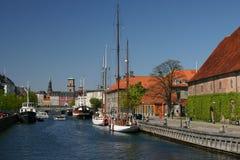 Canali a Copenhaghen Immagine Stock Libera da Diritti