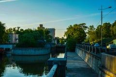 Canali dell'acqua di Mosca, tempo di molla in anticipo fotografia stock