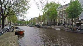 Canali di Amsterdam stock footage