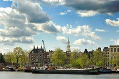 Canali di Amsterdam Fotografie Stock Libere da Diritti