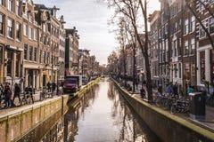 Canali di Amsterdam fotografia stock