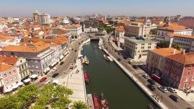 Canali di Aveiro, Portogallo - 02 08 vista aerea 2016 archivi video