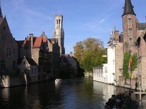 Canali di bella Bruges. Immagine Stock Libera da Diritti