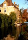 Canali di Bruges Immagini Stock Libere da Diritti