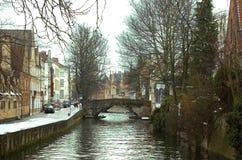 Canali di Bruges. Fotografia Stock