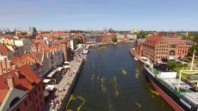 Canali di Danzica, vista superiore stock footage
